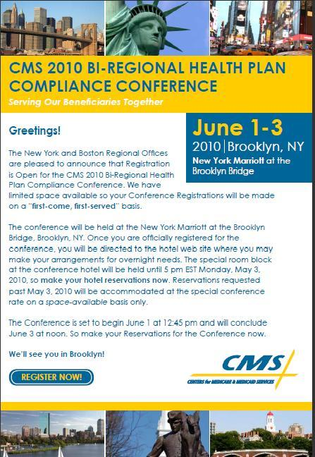 CMS 2010 - BI-REGIONAL HEALTH PLAN COMPLIANCE CONFERENCE