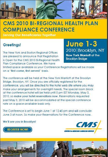 CMS 2010 - BI-REGIONAL HEALTH PLAN COMPLIANCE CONFERENCE